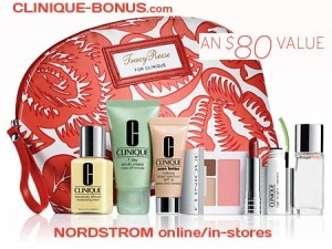 Nordstrom bonus gift-set with Clinqiue products