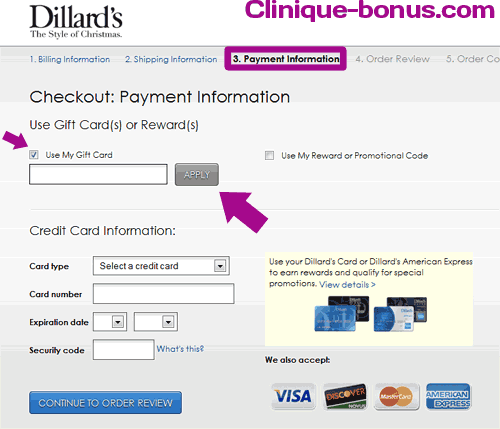 $25.00 Dillards Gift Card to win in January for Clinique bonus time