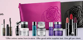 Spend just $35 on any Lancome products at the Bon-Ton and receive 6