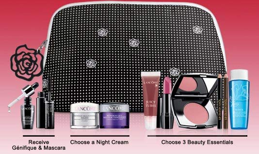 with any Lancome purchase of $59.50 at many different stores