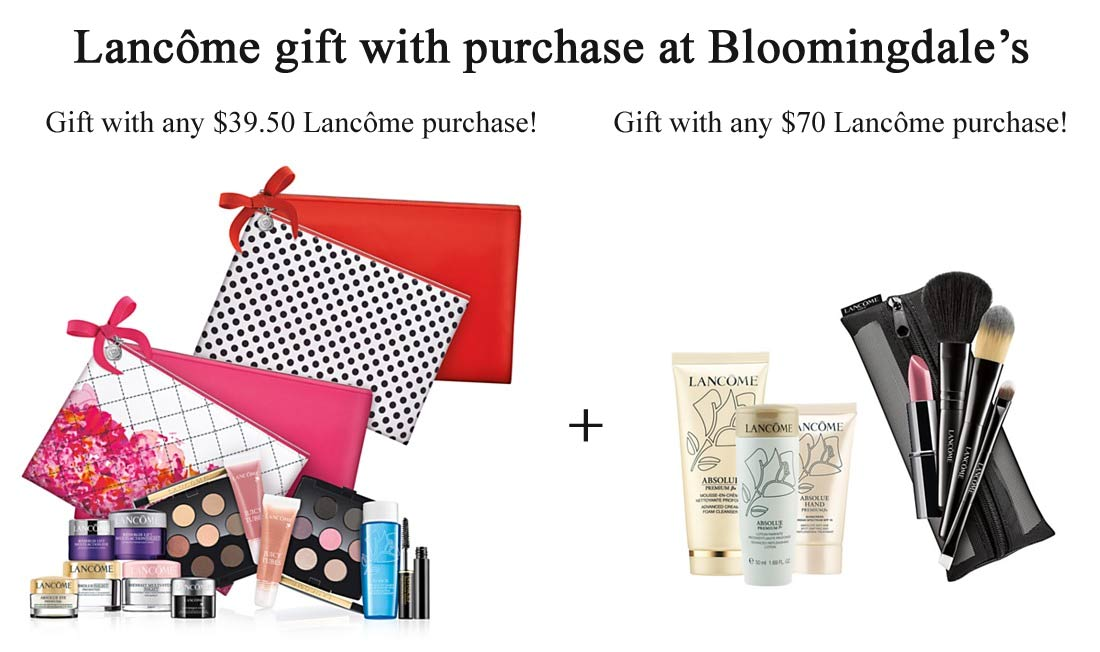 Shop for Lancôme beauty and fragrance sets at hingcess-serp.cf Find gift sets, skincare value sets and more. Totally free shipping. Skip navigation. It's easy and secure. Ship to Store. Gift With Purchase. Lancôme Beauty Box (Purchase with Lancôme Purchase) ($ Value) $ (22) Gift With Purchase.