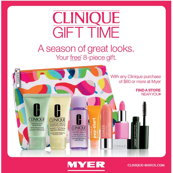 Current & upcoming free offers - Clinique Bonus Time December 2017