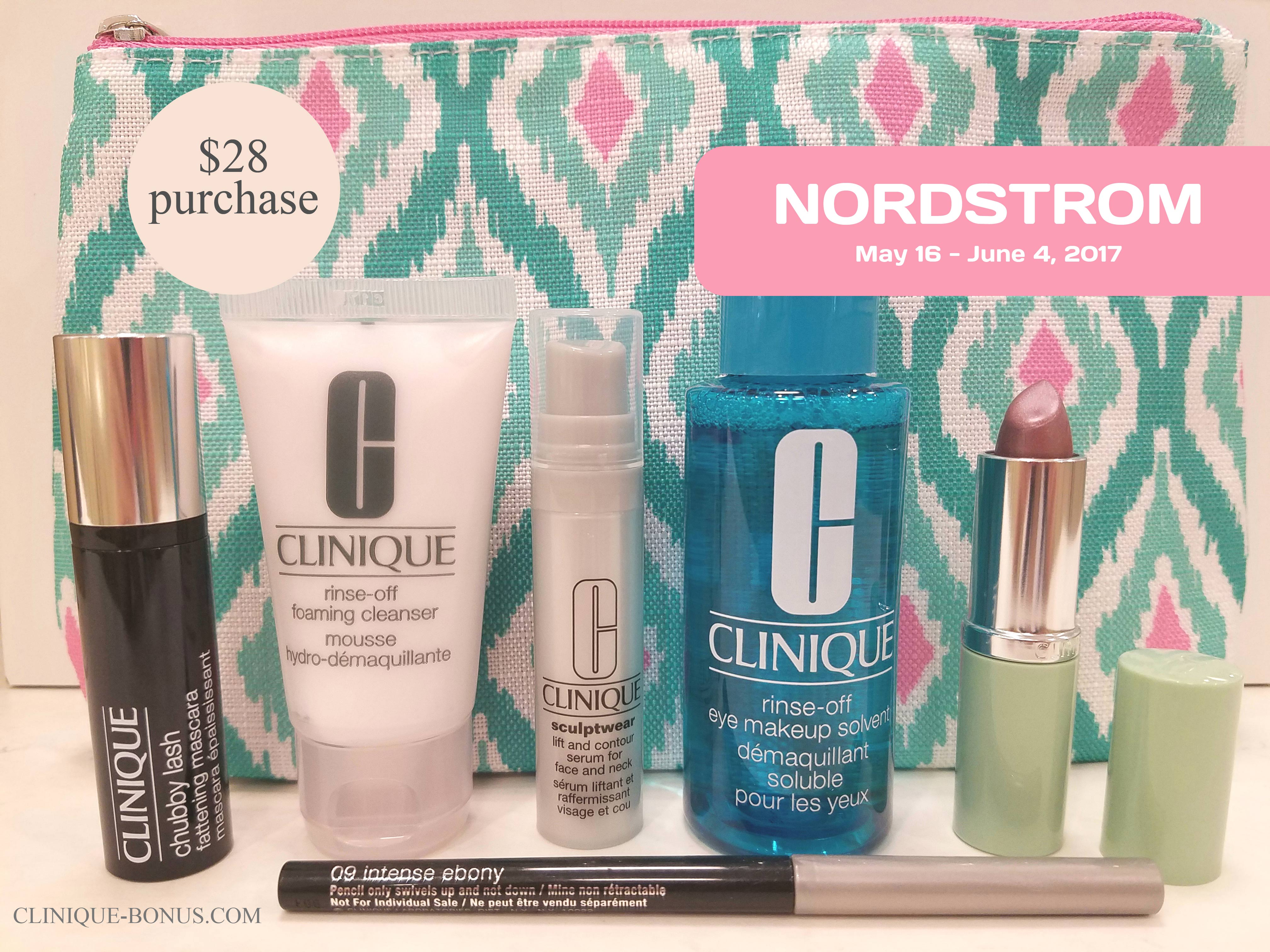 Nordstrom: Clinique Bonuses in 2017
