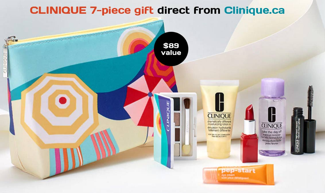 A promotional period from Clinique when you can get free cosmetics products with a cosmetics bag when you make a qualifying purchase. Here are the latest offers of Clinique bonus time , so you don't need to search endlessly for stores offering a free gift anymore.