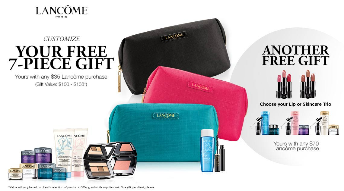 Lancome Gift With Purchase Dillards July 2017 Lamoureph Blog