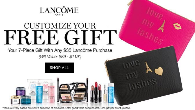Lancome Gifts with Purchase in December 2017