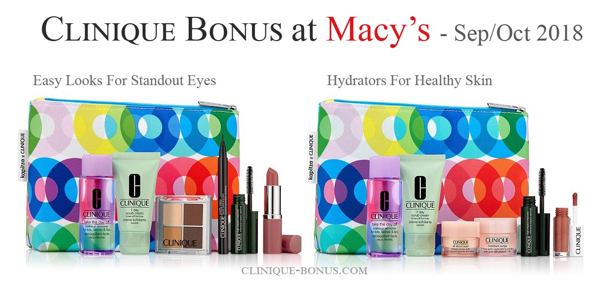 the fall clinique bonus at macy s in october 2018