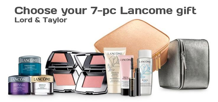 Plus, when you spend more ($75 or more on Lancome) you can choose: