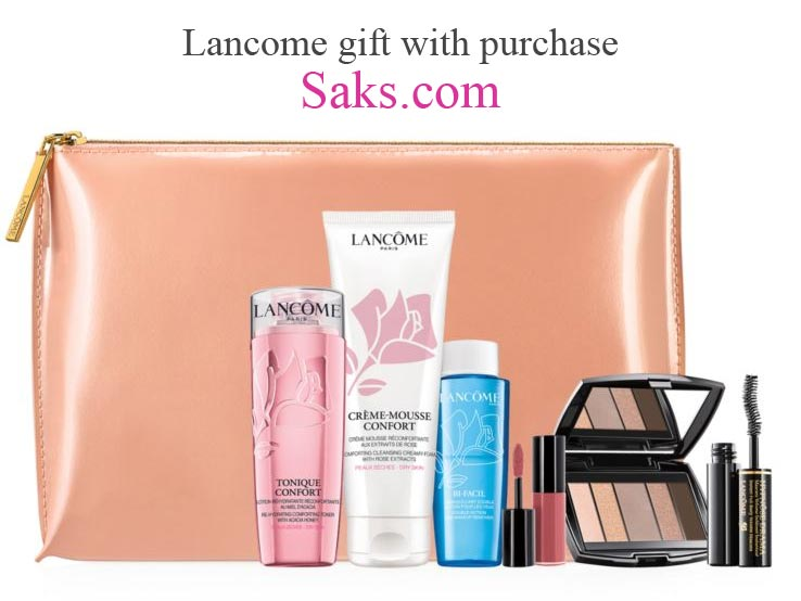 There is a Lancome GWP at Saksfifthavenue.com – spend $125 or more on Lancome products and receive this complimentary seven-piece gift.