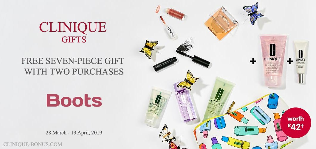 Clinique Bonuses in the UK and IE - August 2019