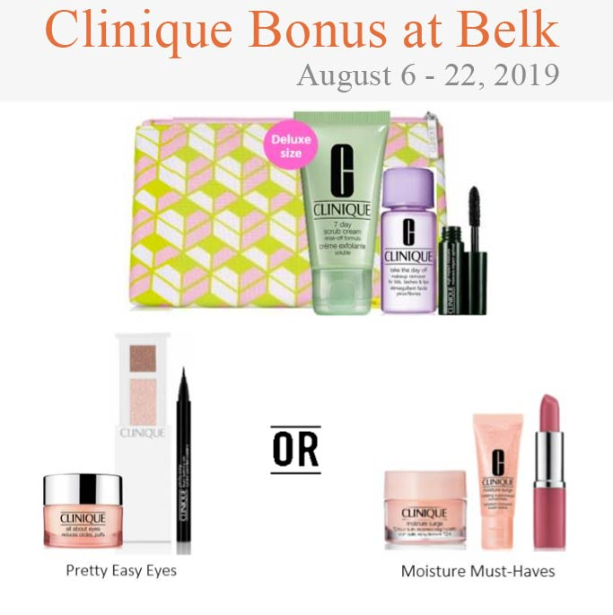 Clinique Gift with purchase offers in 2019