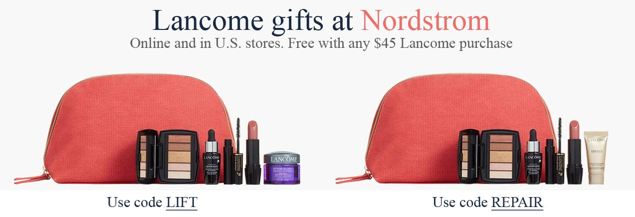 All Lancome Gift with Purchase offers in July 2020